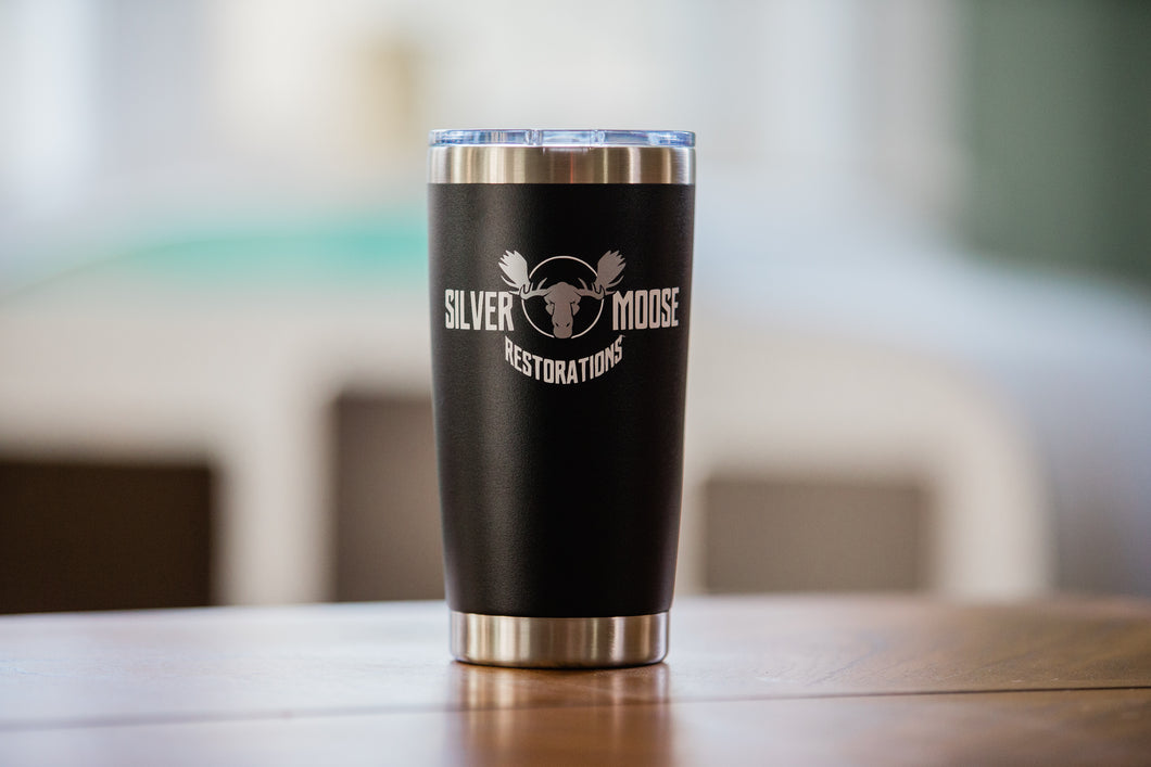 20oz Silver Moose Insulated Tumbler