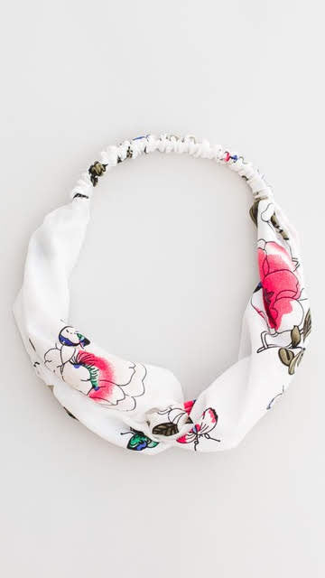 Butterfly Garden Satin Headband