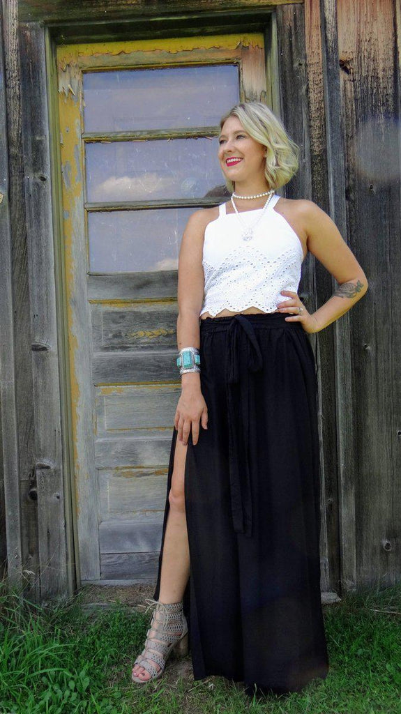 Dreamers Maxi Skirt- Black-Small-Kinlee Rose