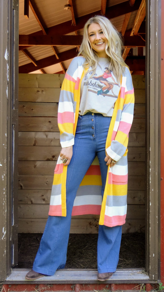 Cotton Candy Stripe Cardigan