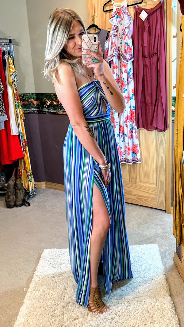 Meet Me in Monterey Stripe Maxi Dress