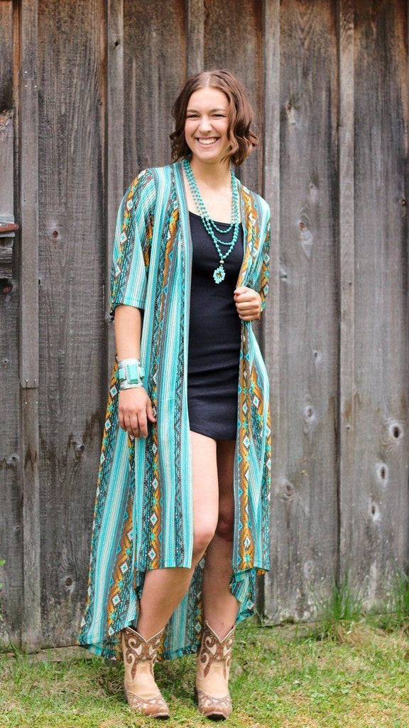 Aztec Duster-One-Size-Kinlee Rose