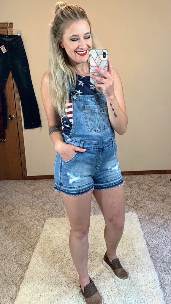 Lindy Lou Shorts Overalls
