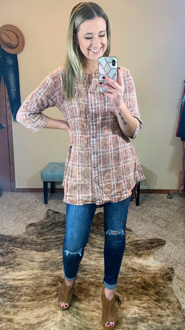 Patsy Plaid Flannel Tunic