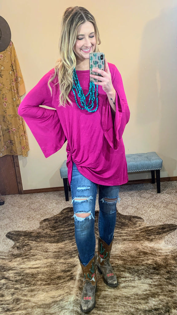 Meeka Bell Sleeve Top