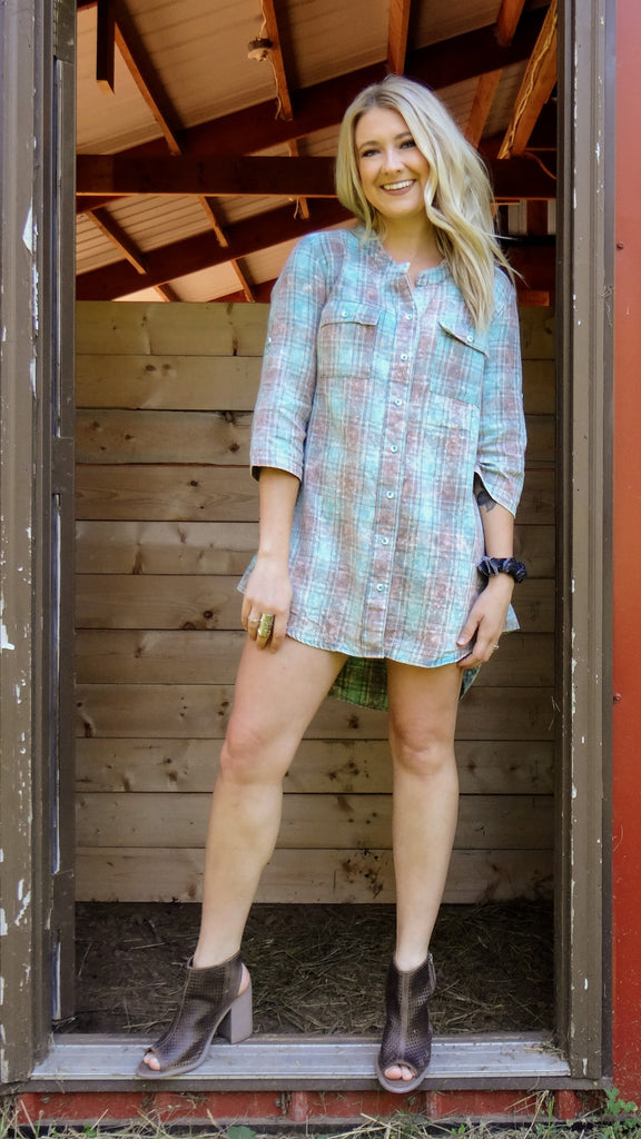 Loretta Plaid Flannel Tunic