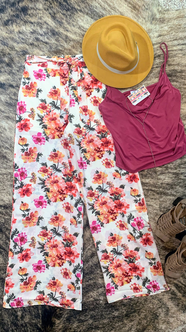 Tea Party Floral Trousers
