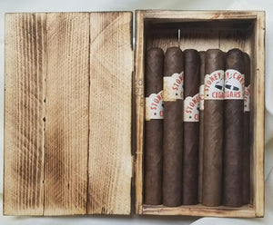 Bourbon cigar - 10 pack <br> includes custom made cigar box