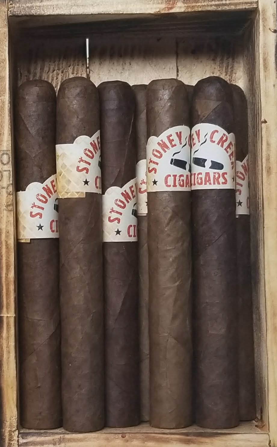 Spiced Rum cigar - 10 pack <br> includes custom made cigar box