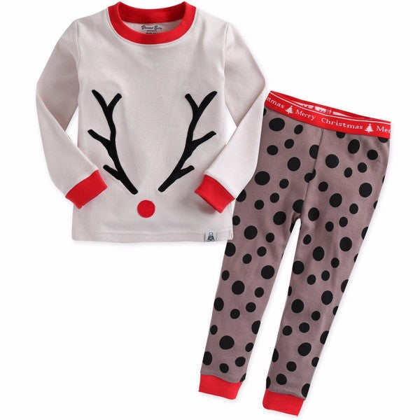 Winter Rudolph Long Sleeve Pajama Set