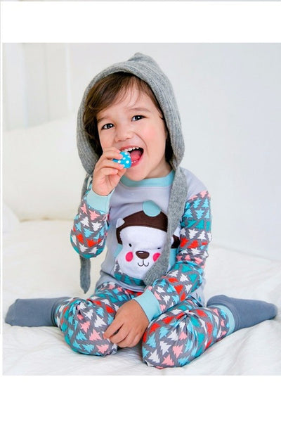 Wool Hat Long Sleeve Pajama Set