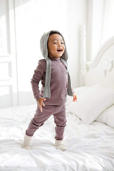 Half Neck Long Sleeve Pajama Set