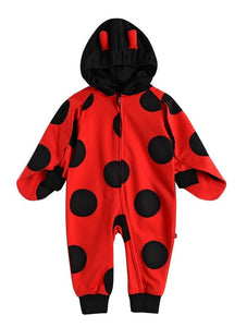 Lady Bug Hooded Jumpsuit