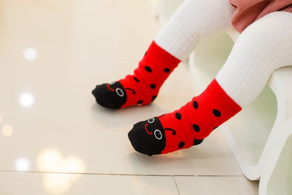 Lady Bug Ankle Socks