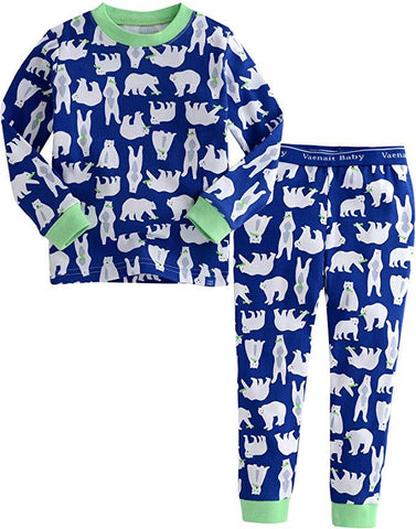 Polar Bear Long Sleeve Pajama Set