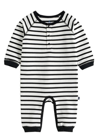 Button Stripe One Piece