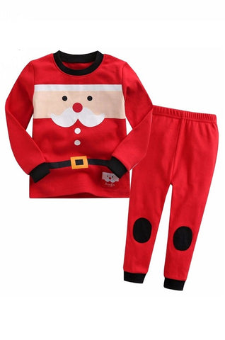 Santa Carol Long Sleeve Pajama Set