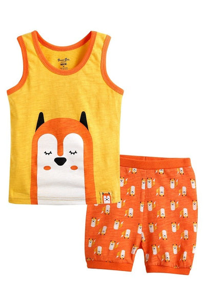 Fox Sleeveless Pajama Set