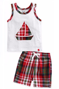 Sleeveless Boat Top & Shorts Set