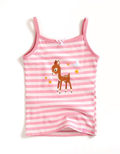 Deer Stripe Sleeveless Tank Top