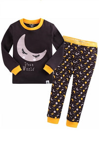 Moon Light Long Sleeve Pajama Set