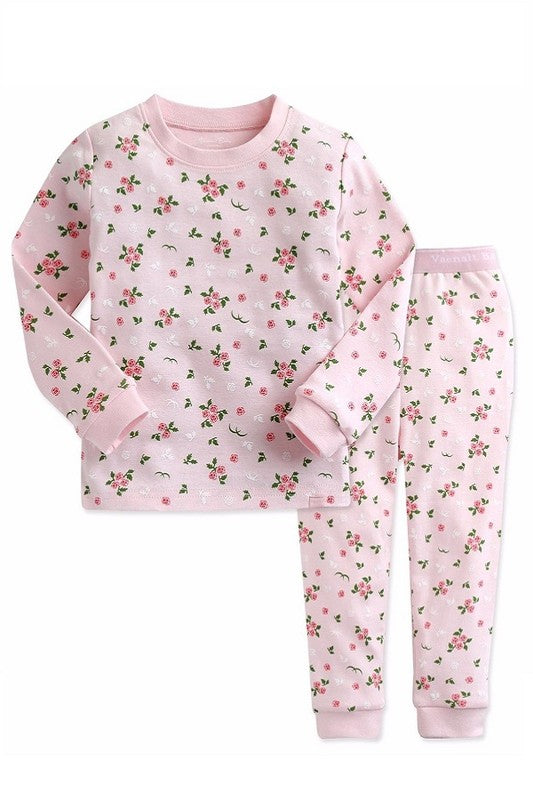 Pink Rose Long Sleeve Pajama Set