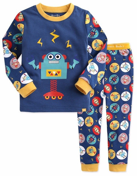 Mega Robot Long Sleeve Pajama Set