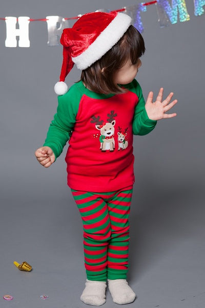 Merry Rudolph Long Sleeve Pajama Set