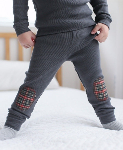 Mono Patch Long Sleeve Pajama Set