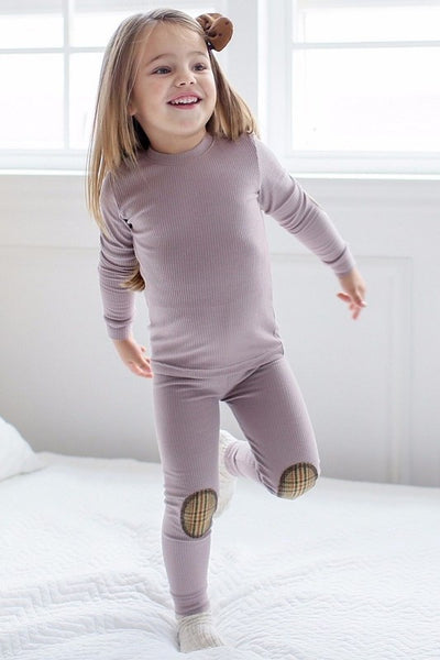 Maple Patch Long Sleeve Pajama Set