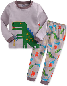 Dino King Long Sleeve Pajama Set