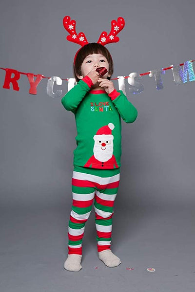 I Love Santa Long Sleeve Pajama Set