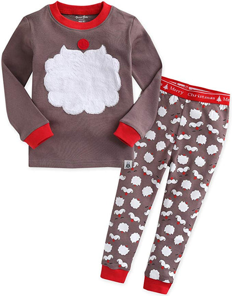 Santa Beard Long Sleeve Pajama Set