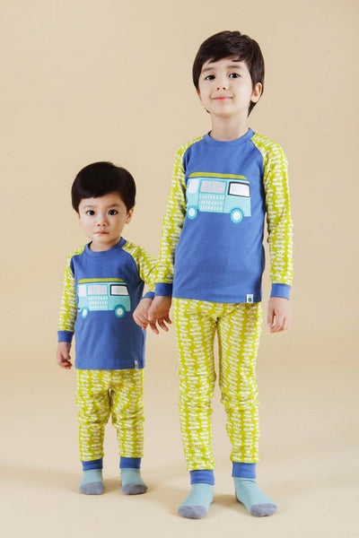 Bus Long Sleeve Pajama Set