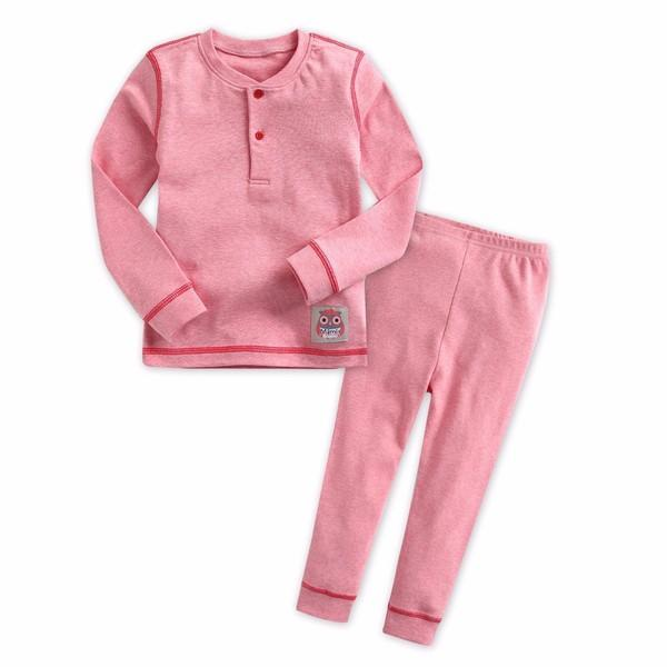 Melange Long Sleeve Pajama Set