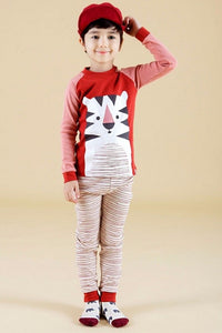 Tiger Friend Long Sleeve Pajama Set