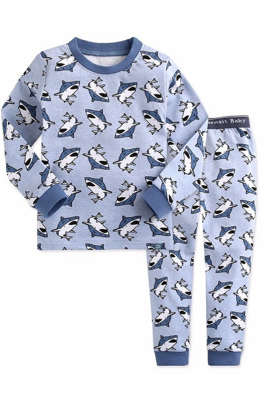 King Shark Long Sleeve Pajama Set