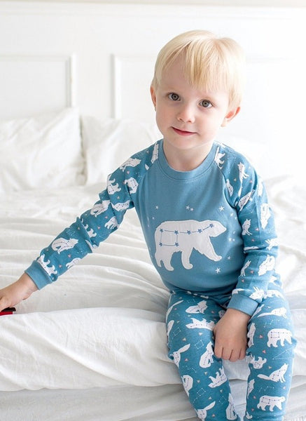 Snow Bear Long Sleeve Pajama Set