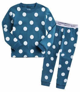 Polka Dot Long Sleeve Pajama Set