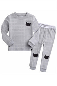 Blanc Cat Long Sleeve Pajama Set
