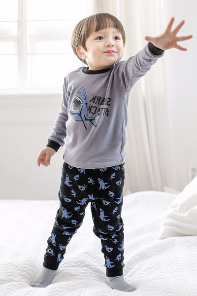 Shark Attack Long Sleeve Pajama Set
