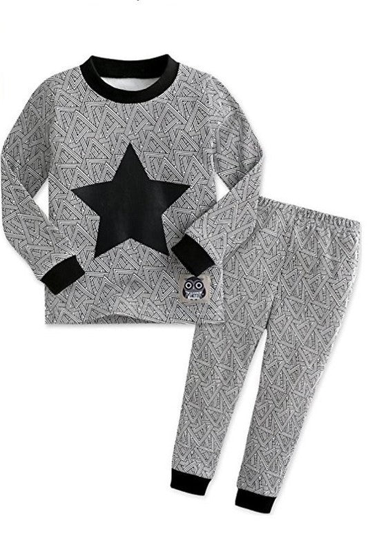 Black Star Long Sleeve Pajama Set