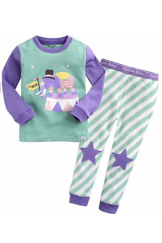 Circus Long Sleeve Pajama Set