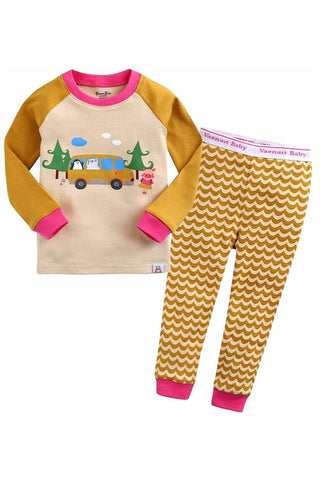 School Bus Long Sleeve Pajama Set