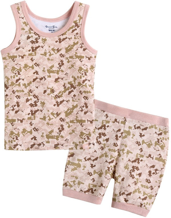 Camo Sleeveless Pajama Set
