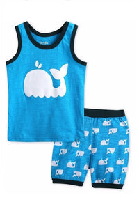 Whale Sleeveless Pajama Set