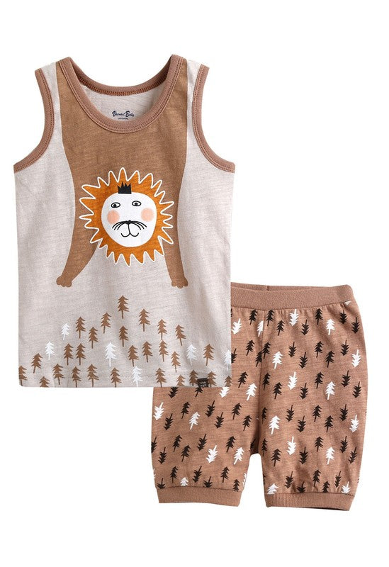 Chow Sleeveless Pajama Set