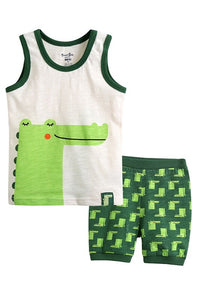 Alligator Sleeveless Pajama Set