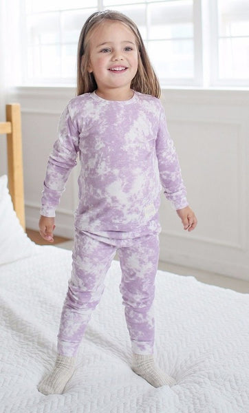 Tie Dye Long Sleeve Pajama Set