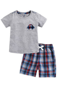 Car Tee & Pattern Shorts Set